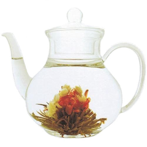 glass teapot 'pear' with infuser