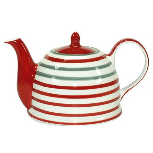 teapot circles red/grey - Tea Desire