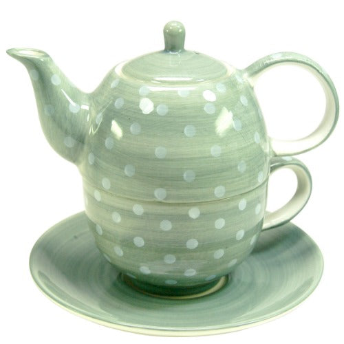 tea for one polka dots grey - Tea Desire