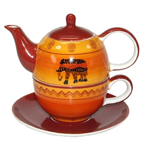 tea for one african, orange-red