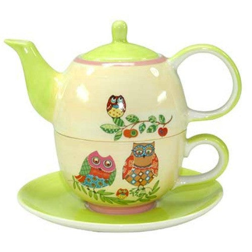 tea for one owl family - Tea Desire