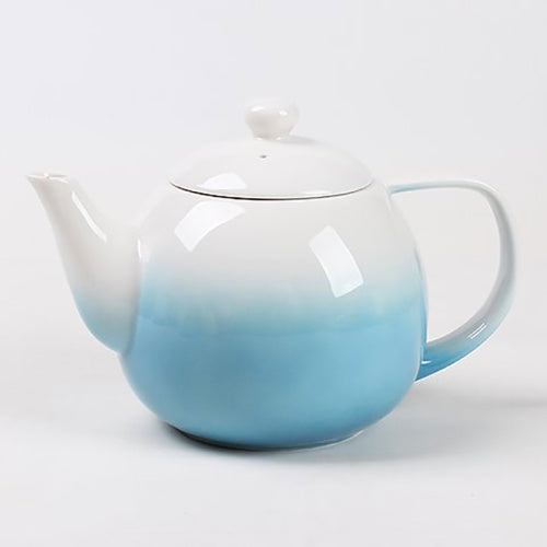 dawn teapot blue with infuser - Tea Desire
