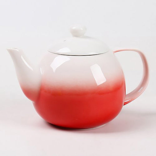 dawn teapot red with infuser - Tea Desire