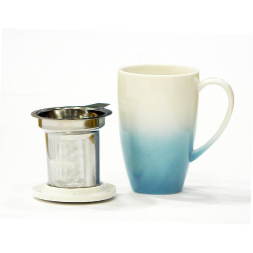 horizon mug blue with infuser - Tea Desire