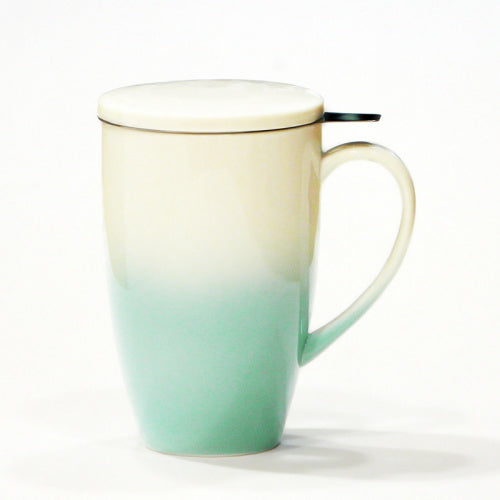 horizon mug green with infuser - Tea Desire