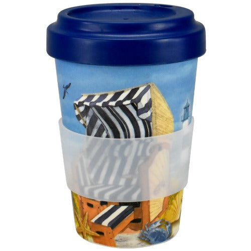 to-go bamboo-mug, beach design - Tea Desire