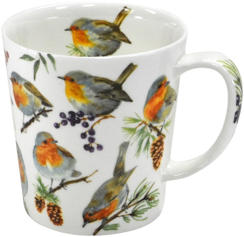 mug winter robin - Tea Desire