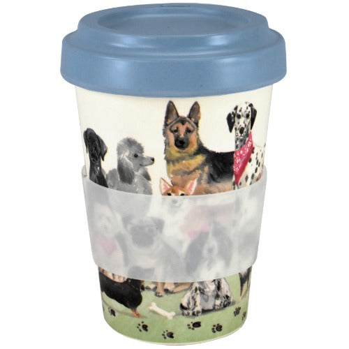 to-go bamboo-mug, happy paws - Tea Desire