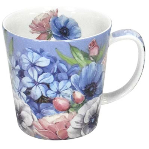 mug blue blossoms - Tea Desire