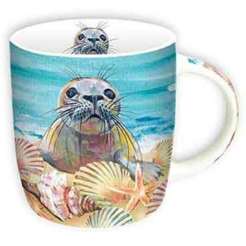 mug cute seal - Tea Desire