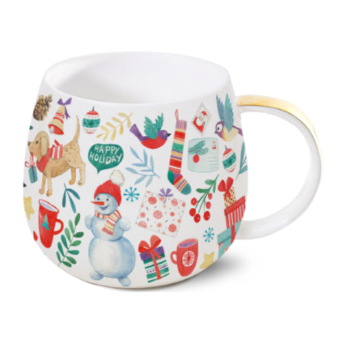 belly mug winter fun - Tea Desire