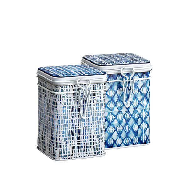 Tea Storage Tin Indigo by Eigenart @ Tea Desire