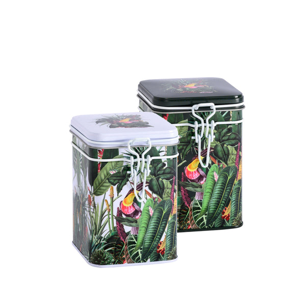 Tea Storage Tin Rainforest by Eigenart @ Tea Desire