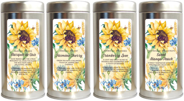 tea tin sunflowers & bees - Tea Desire