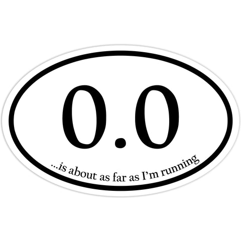 0.0 Marathon Runner Sticker Decal - Funny Marathon Runner Bumper Sticker - The FinderThings