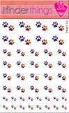 Rainbow Leopard Paw Print Nail Art Decal Sticker Set - The FinderThings