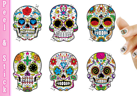 Sugar Skulls Nail Art Decal Sticker Set - The FinderThings
