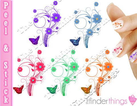Butterfly Mix Nail Art Decal Sticker Set - The FinderThings