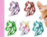 Horse Tribal Mix Nail Art Decal Sticker Set - The FinderThings