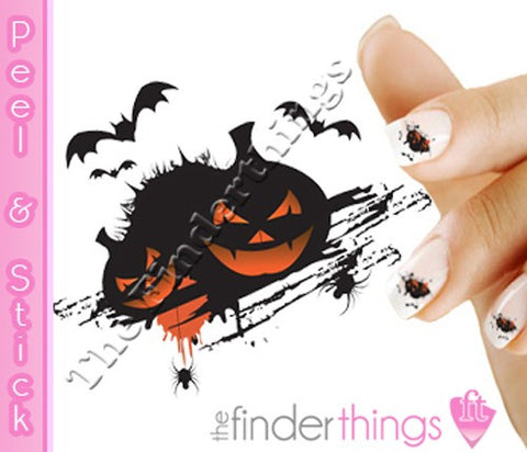 Halloween Pumpkin Jack o Lanterns Nail Art Decal Sticker Set - The FinderThings