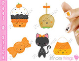 Halloween Candy and Cupcake Mix Nail Art Decal Sticker Set