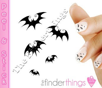 Halloween Bats Nail Art Decal Sticker Set - The FinderThings