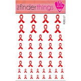AIDS HIV Awareness Ribbon Support Nail Art Decal Sticker Set - The FinderThings