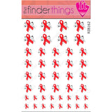 AIDS HIV Awareness Ribbon Swirl Support Nail Art Decal Sticker Set - The FinderThings