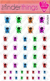 Sugar Skull Splash Nail Art Decal Sticker Set