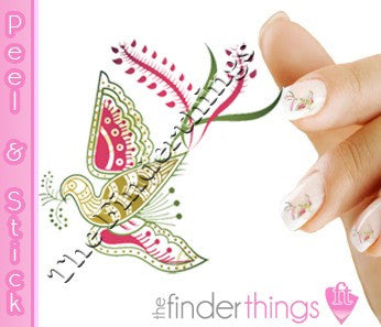 Elegant Tribal Bird Nail Art Decal Sticker Set - The FinderThings