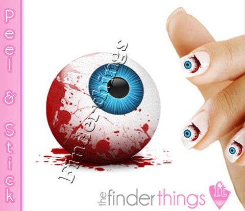 Halloween Bloody Eyeball Nail Art Decal Sticker Set - The FinderThings