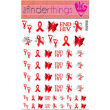 AIDS HIV Awareness Ribbon Mix Support Nail Art Decal Sticker Set - The FinderThings