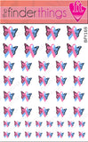 Pregnancy Loss Ribbon Support Ribbon Butterfly Nail Art Decal Sticker Set - The FinderThings