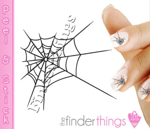 Halloween Spider Web Nail Art Decal Sticker Set