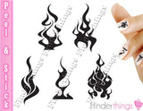 Flames and Fire Nail Art Decal Sticker Set - The FinderThings