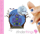 Halloween Spooky Haunted House Nail Art Decal Sticker Set - The FinderThings