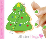 Christmas Tree Sugar Cookie Nail Art Decal Sticker Set - The FinderThings