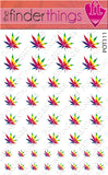 Rainbow Pot Leaf Weed Nail Art Decal Sticker Set - The FinderThings
