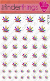 Tie Dye Pot Leaf Weed Nail Art Decal Sticker Set - The FinderThings