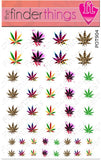 Pot Leaf Marijuana Mix Weed Nail Art Decal Sticker Set - The FinderThings