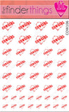 Cowgirl Barbed Wire Heart Red Nail Art Decal Sticker Set - The FinderThings