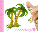 Palm Tree and Colorful Beach Nail Art Decal Sticker Set - The FinderThings