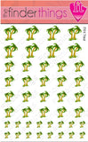 Palm Tree and Colorful Beach Nail Art Decal Sticker Set