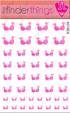Breast Cancer Awareness Ribbon Bra Nail Art Decal Sticker Set - The FinderThings