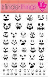 Halloween Scary Pumpkin Face Nail Art Decal Sticker Set - The FinderThings