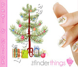 Christmas Tree and Presents Nail Art Decal Sticker Set - The FinderThings