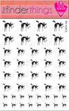 Black Cat Halloween Nail Art Decal Sticker Set