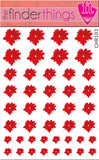 Christmas Poinsettia Flower Nail Art Decal Sticker Set - The FinderThings