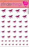 Running Horse Pink Tiger Stripe Nail Art Decal Sticker Set