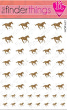 Running Horse Leopard Print Nail Art Decal Sticker Set - The FinderThings